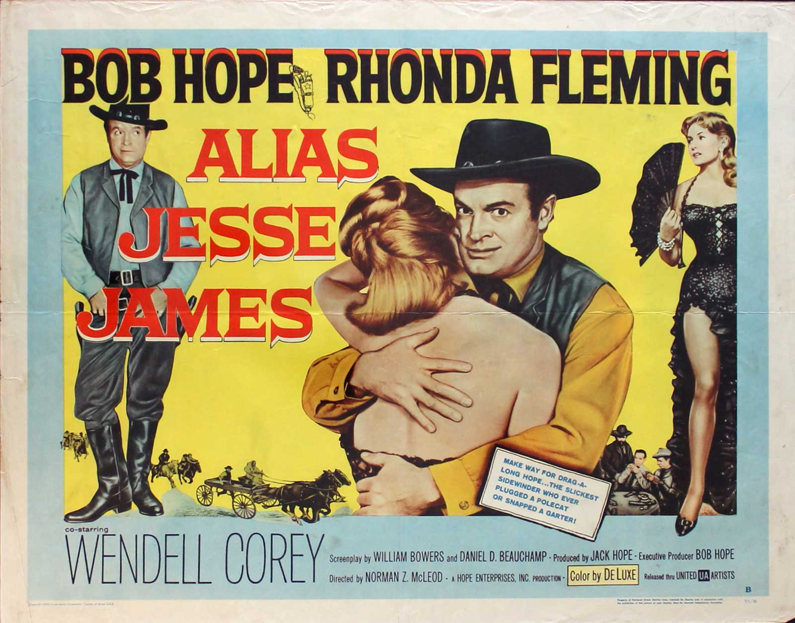 Alias Jesse James, 1959, Bob Hope, Original Half Sheet, Style B (22x28)