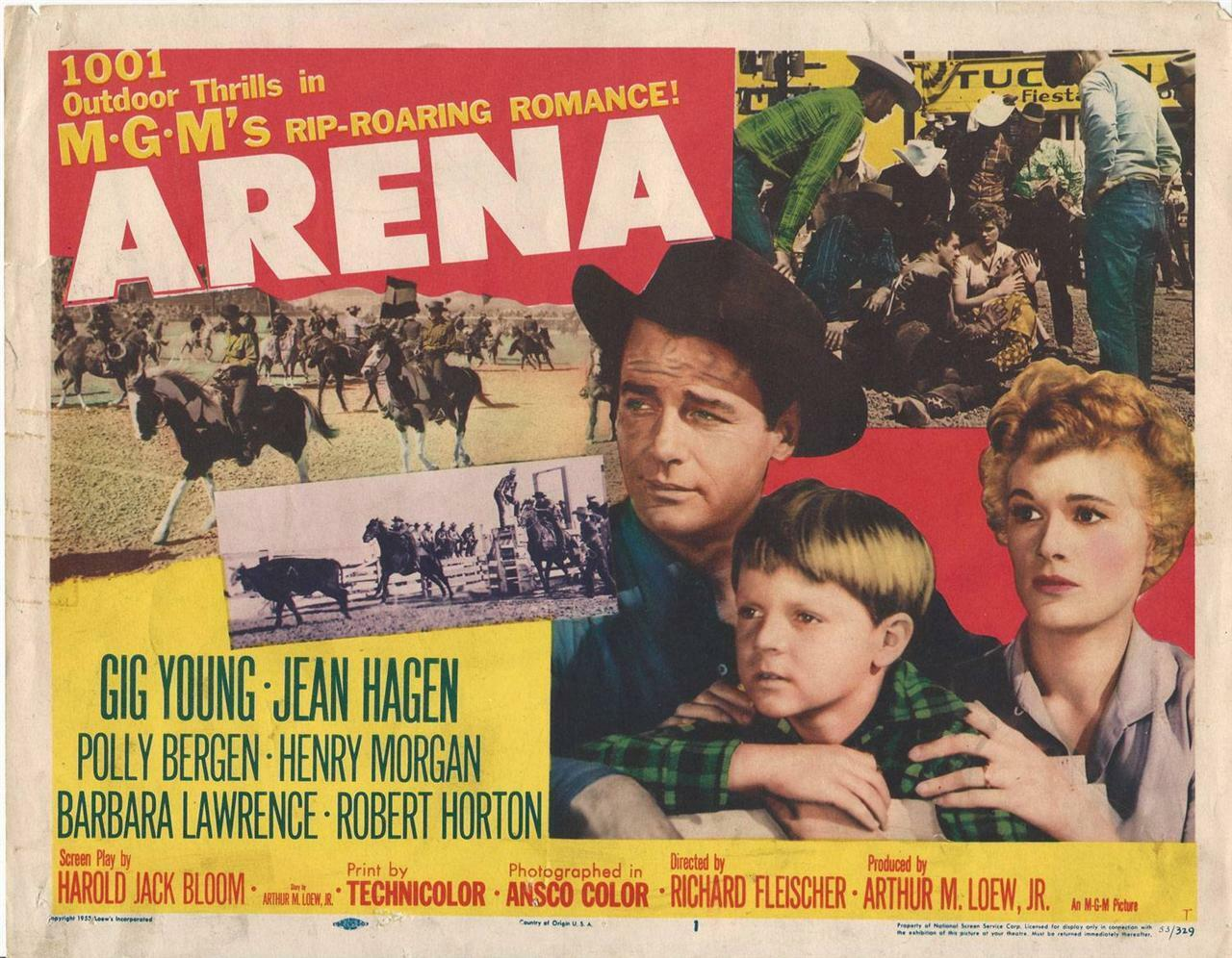 Arena ,1958, Gig Young and Jean Hagen, Title Card! 11x14