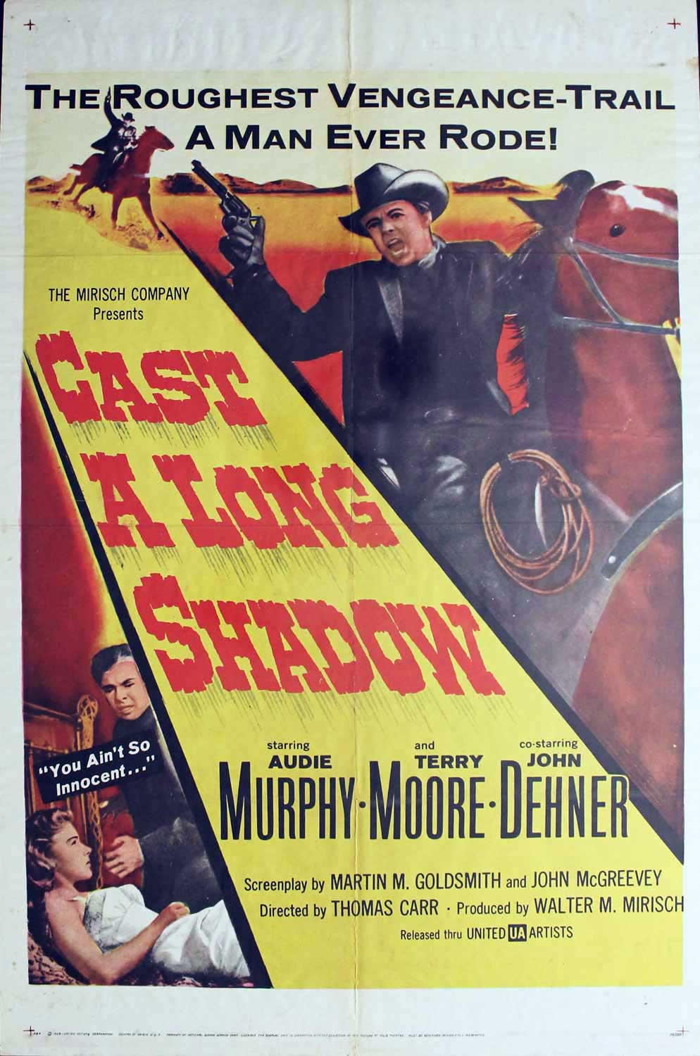 Cast a Long Shadow, 1959, Audie Murphy, 1 Sheet (27x41)