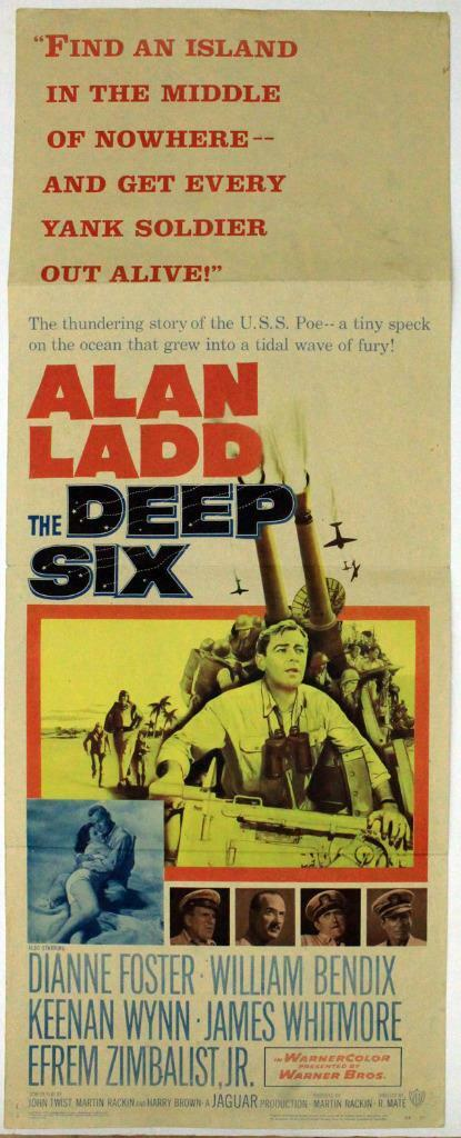 The Deep Six (1958) Original Insert (14x36