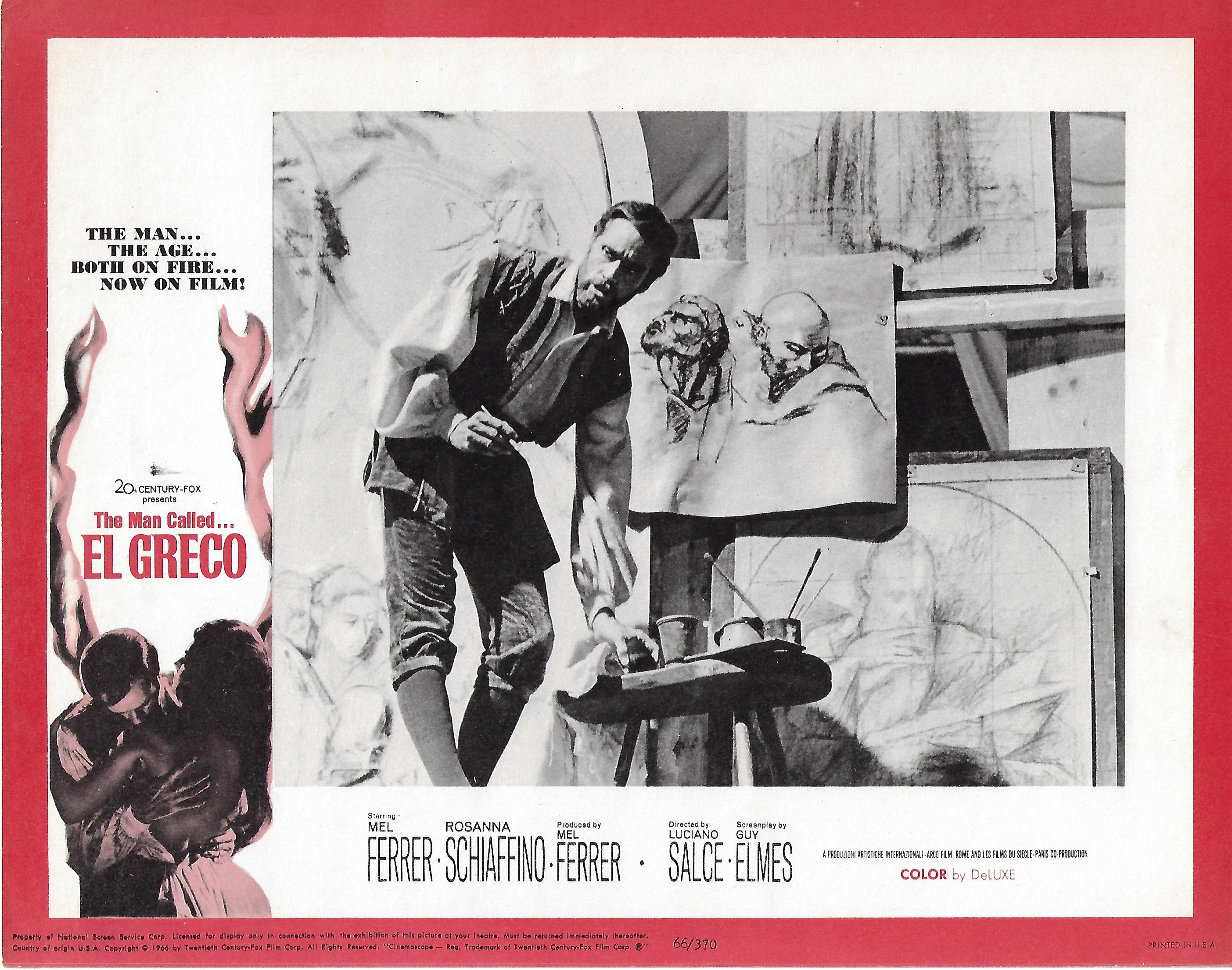 Man Called El Greco , 1966, Original Lobby Card  Set , 11x14