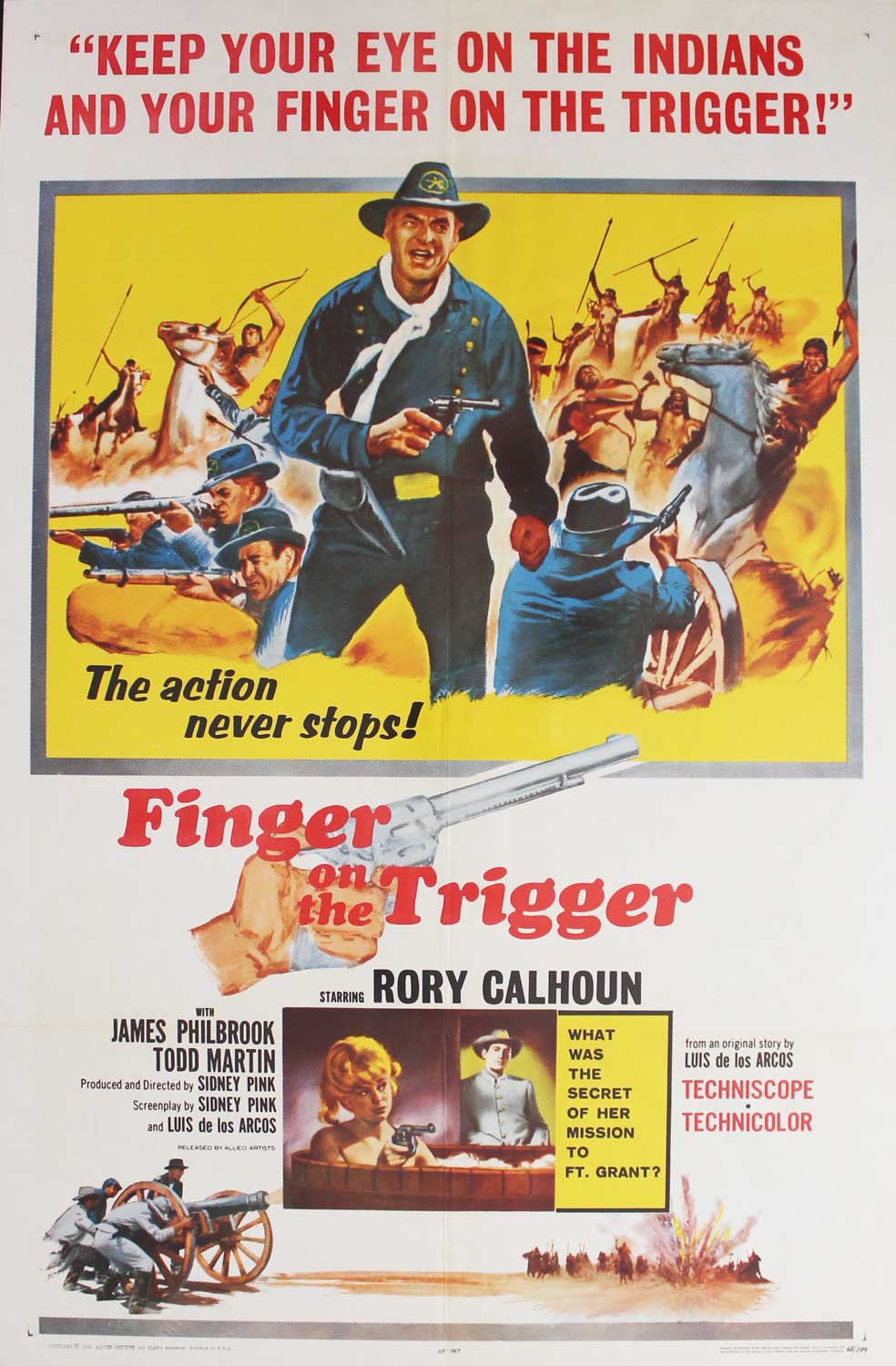 Finger on the Trigger, 1965, Rory Calhoun, Original 1 Sheet (27x41)