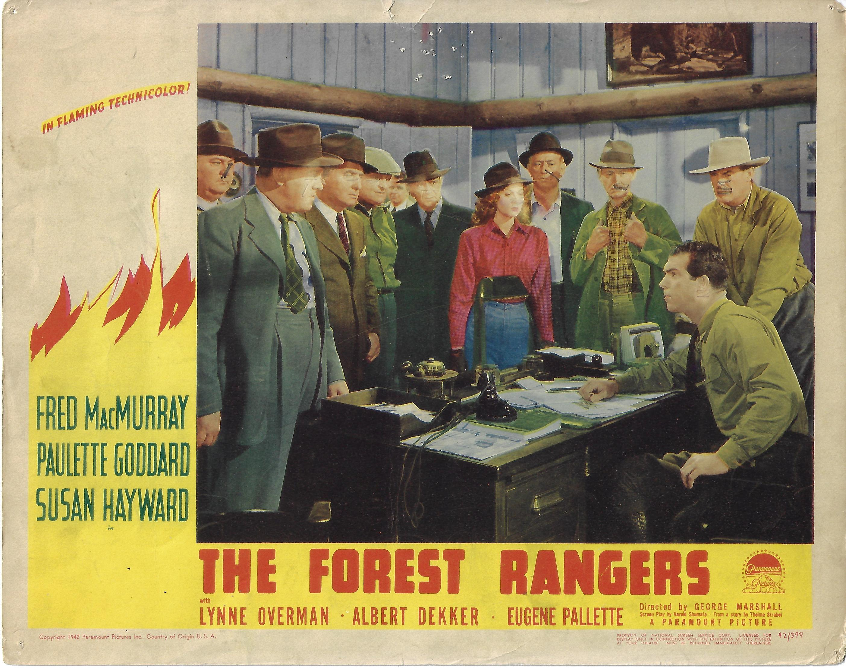 Forest Rangers, 1942, Fred MacMurray, Original Lobby Card 11x14