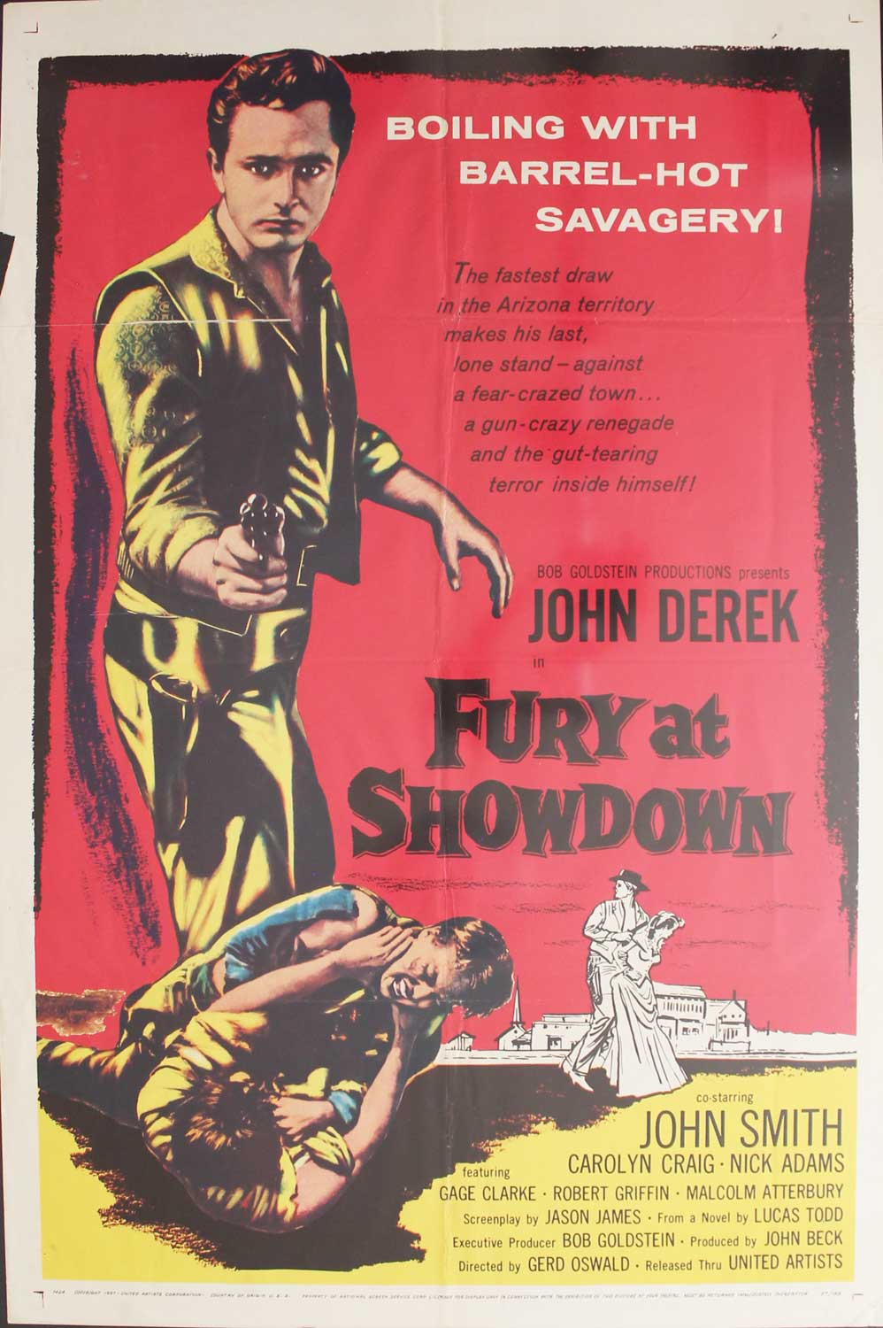 Fury at Showdown, 1957, John Derek, Original 1 Sheet (27x41)
