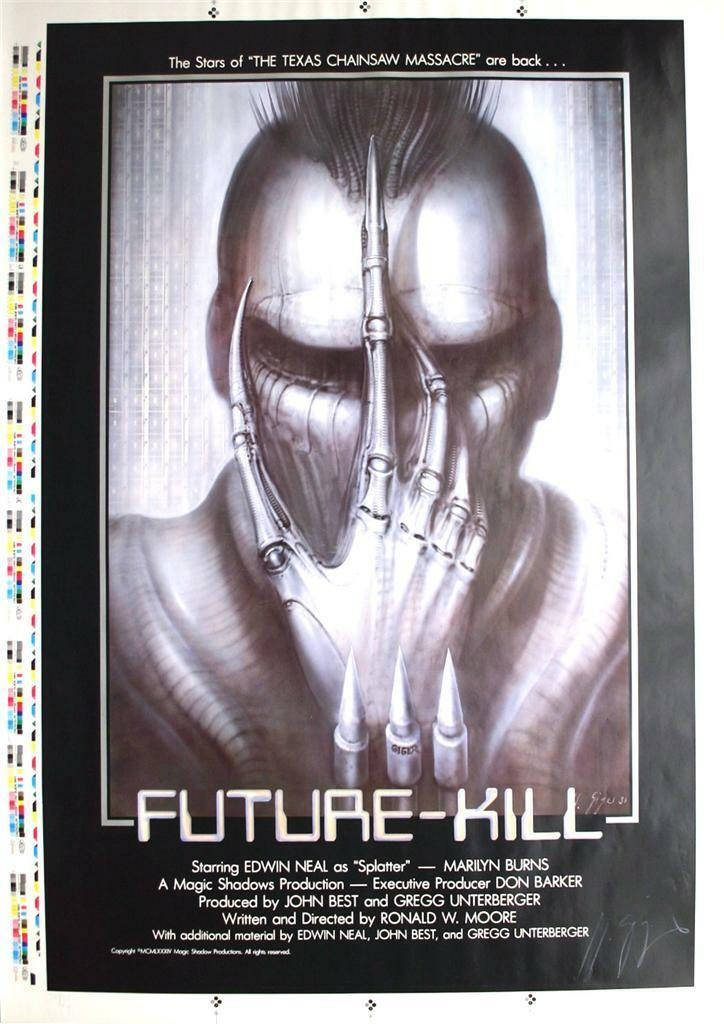 HR Giger, Future-Kill,(1985) Artist's/Printers Proof, 1 sht. Signed , NM Rolled