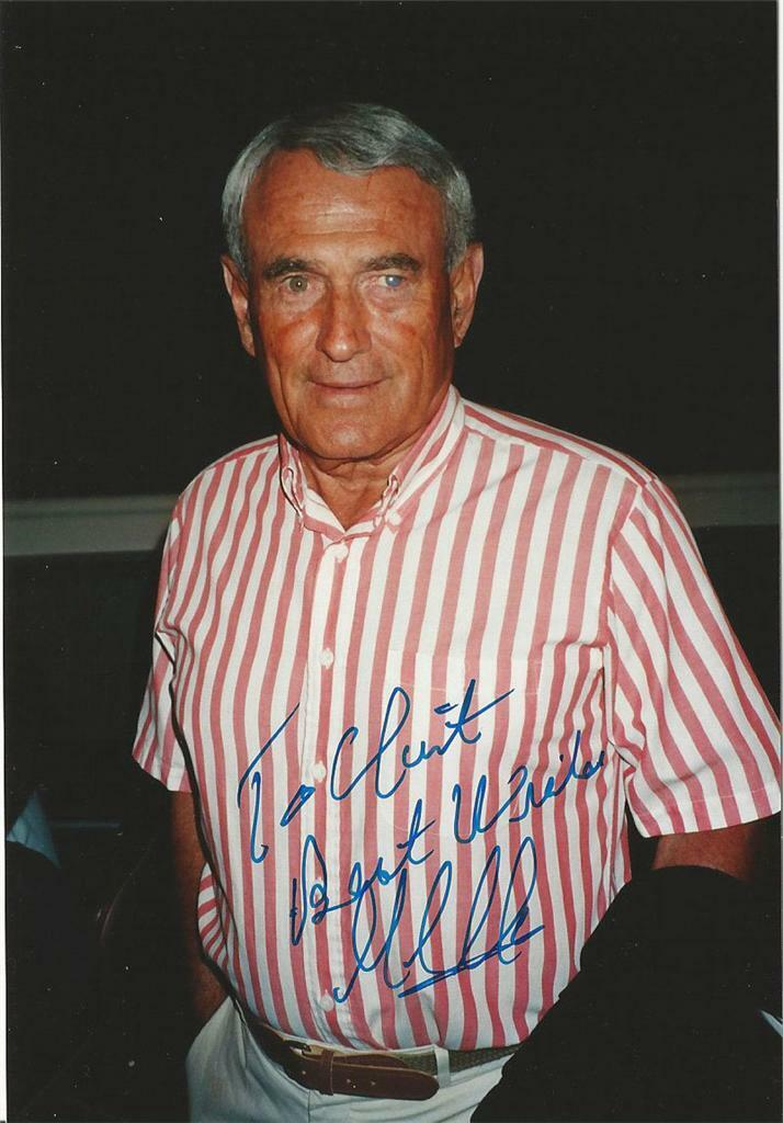 Gill Clancy(1922-2011) Boxing Commentator/Trainer, Autographed 4x6