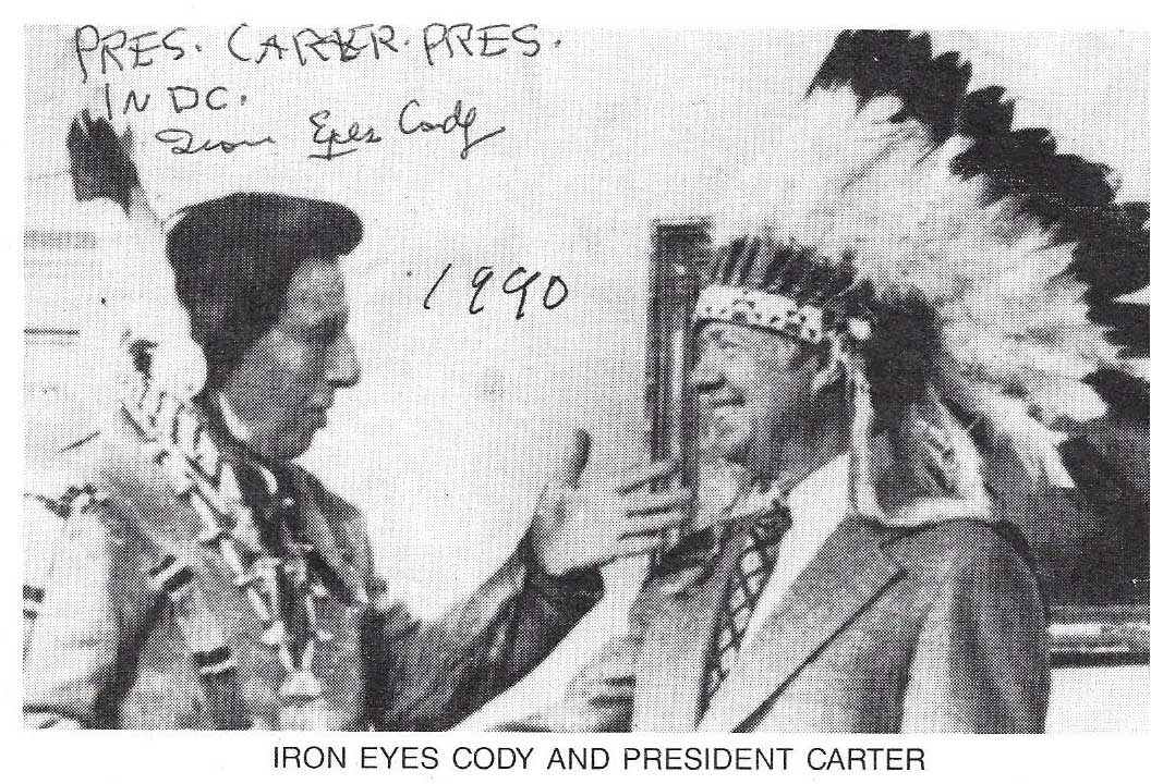Iron Eyes Cody, 1907-1999 , Signed in Person 4x6 photo , Guaranteed Original!