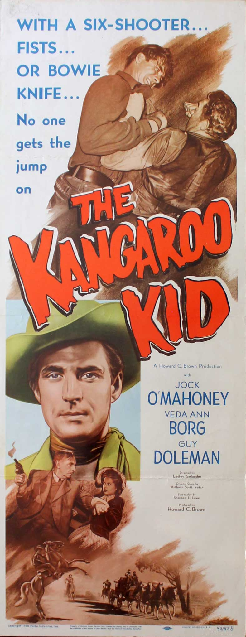 Kangaroo Kid, 1950, Jock Mahoney, Original Insert, (14x36