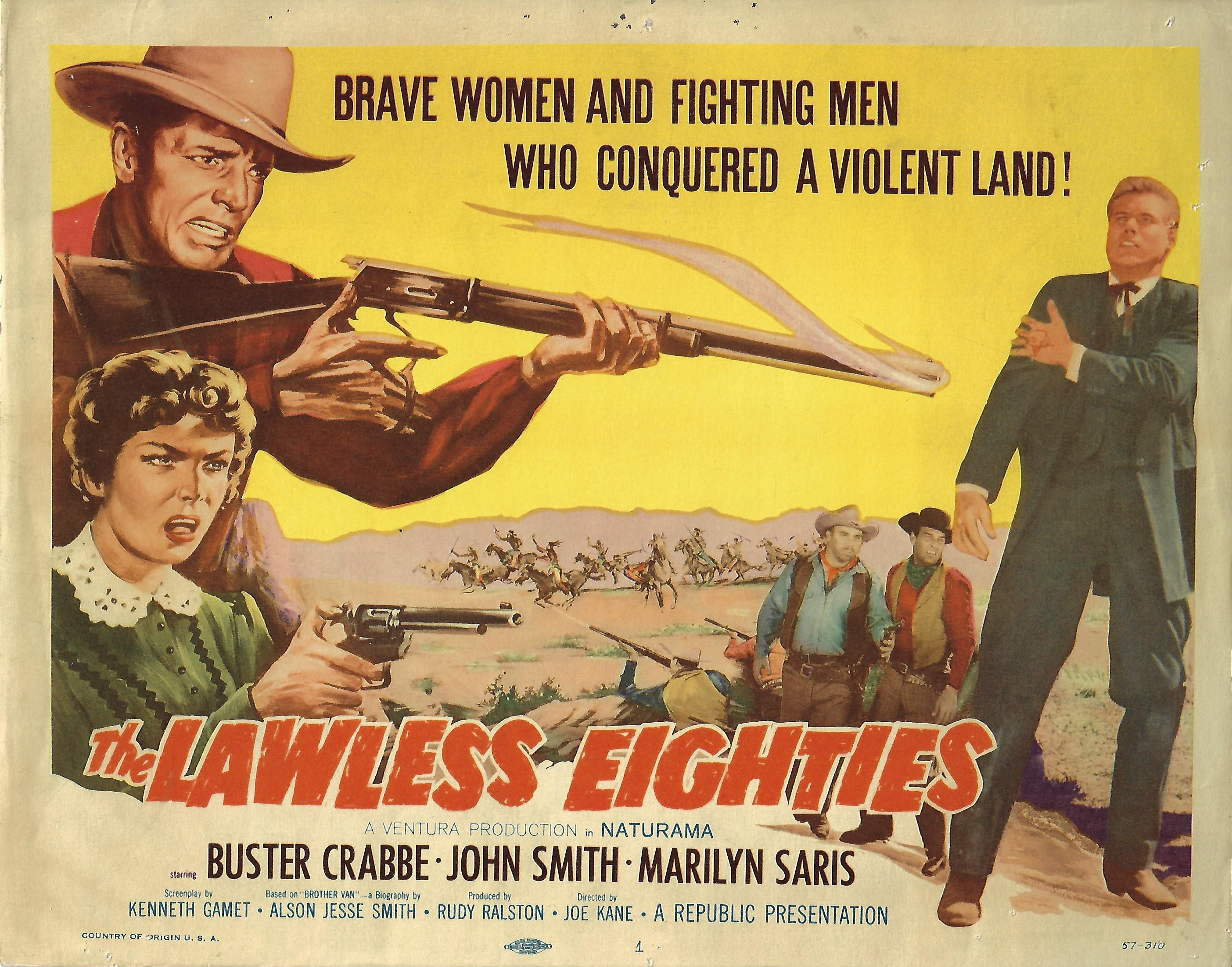 Lawless Eighties, Original Title Card , 1957, 11x14
