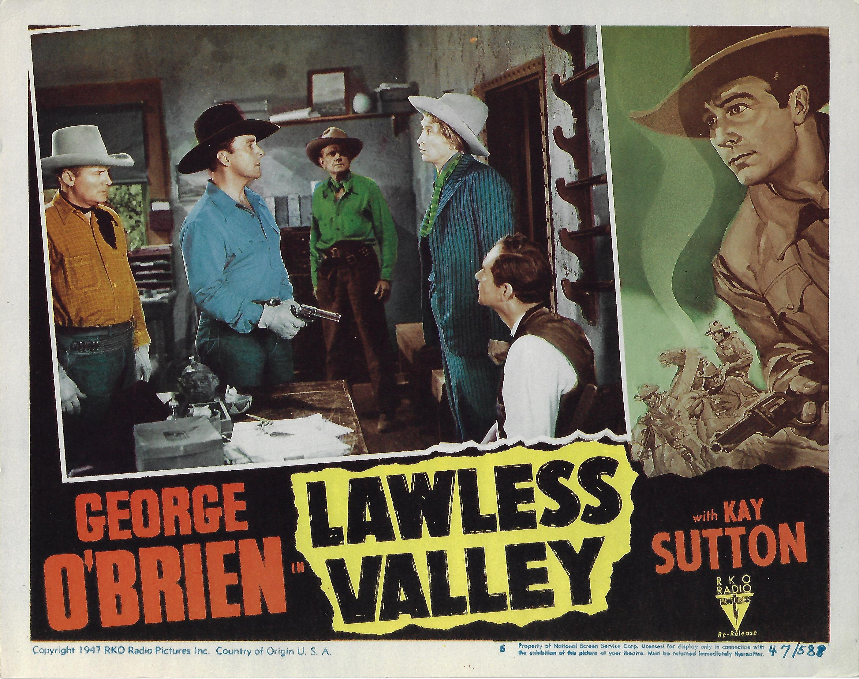 Lawless Valley, Lobby Card, 1947,  11x14