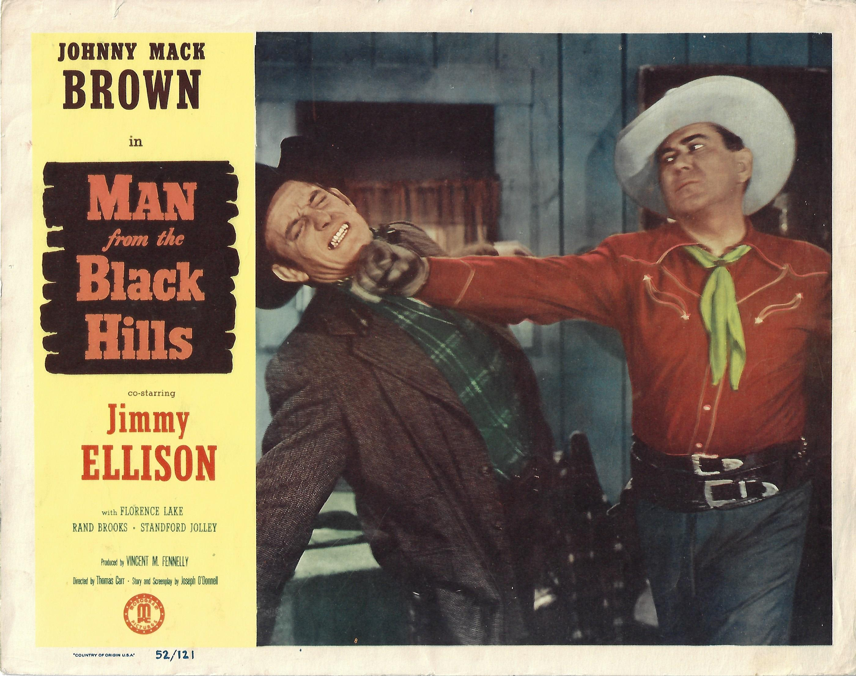 Man from the Black Hills, Original Lobby Card , 1952, 11x14