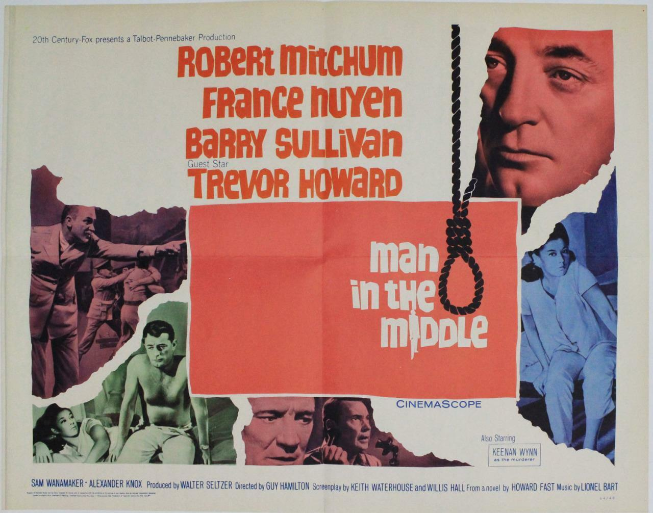 Man in the Middle, 1964, Robert Mitchum, Original Half Sheet (22x28)
