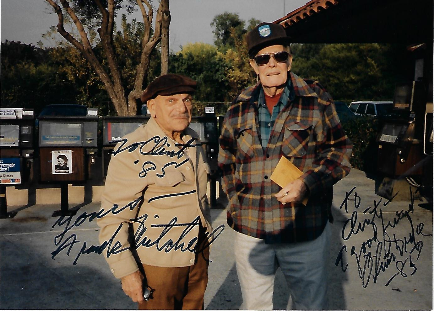 Frank Mitchell, Oliver Drake, Autographed Candid Photo (5x7)