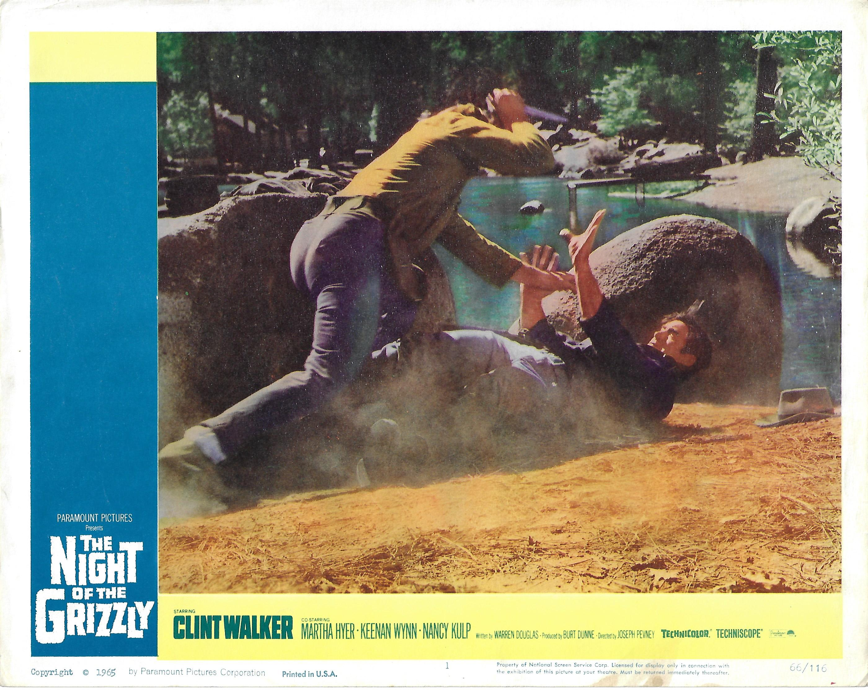 Night of the Grizzly, 1966, Original Lobby Card, 11x14