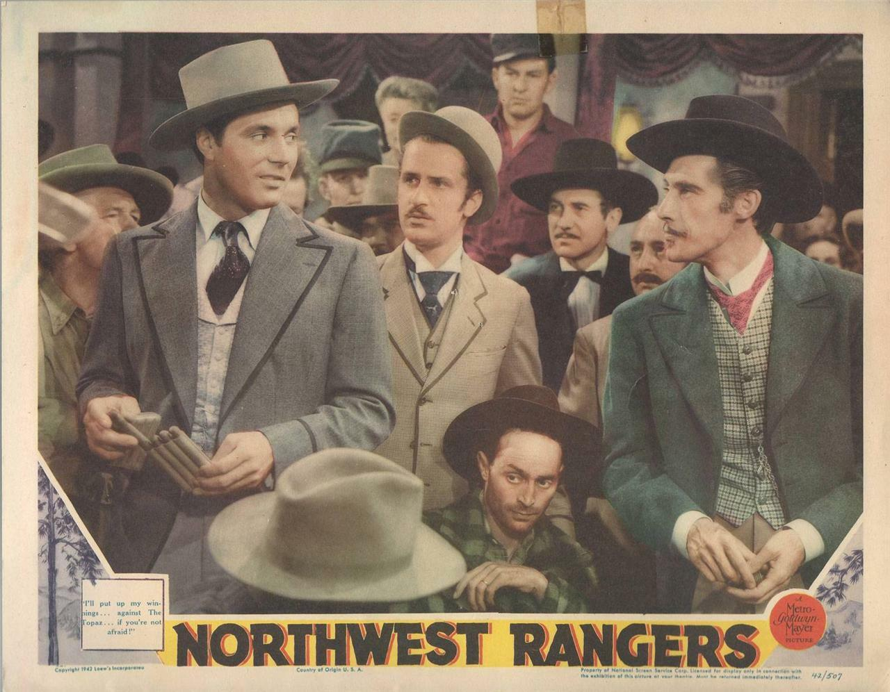 Northwest Rangers, 1942, James Craig, Original Lobby Card 11x14