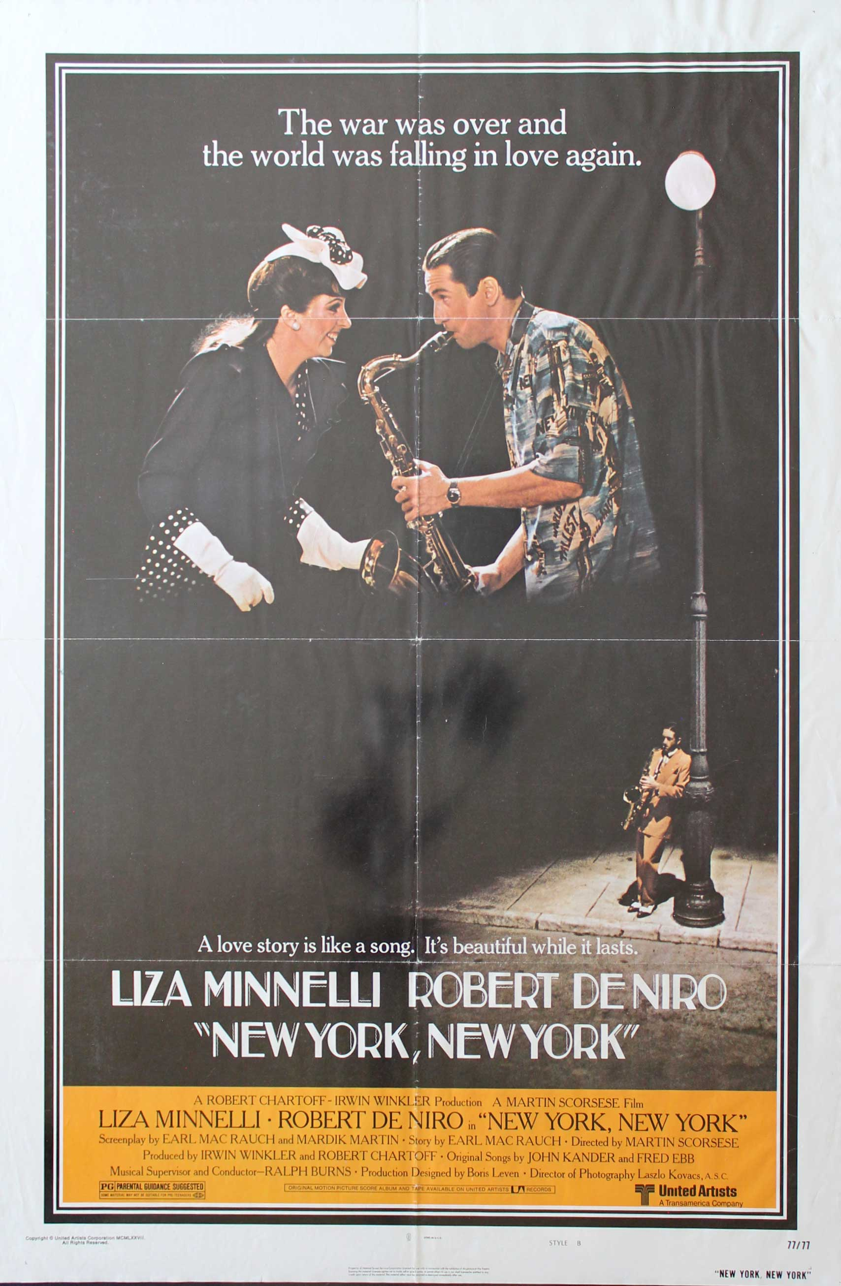 New York, New York, 1977, Liza Minnelli, Style B, Original 1 Sheet (27x41)