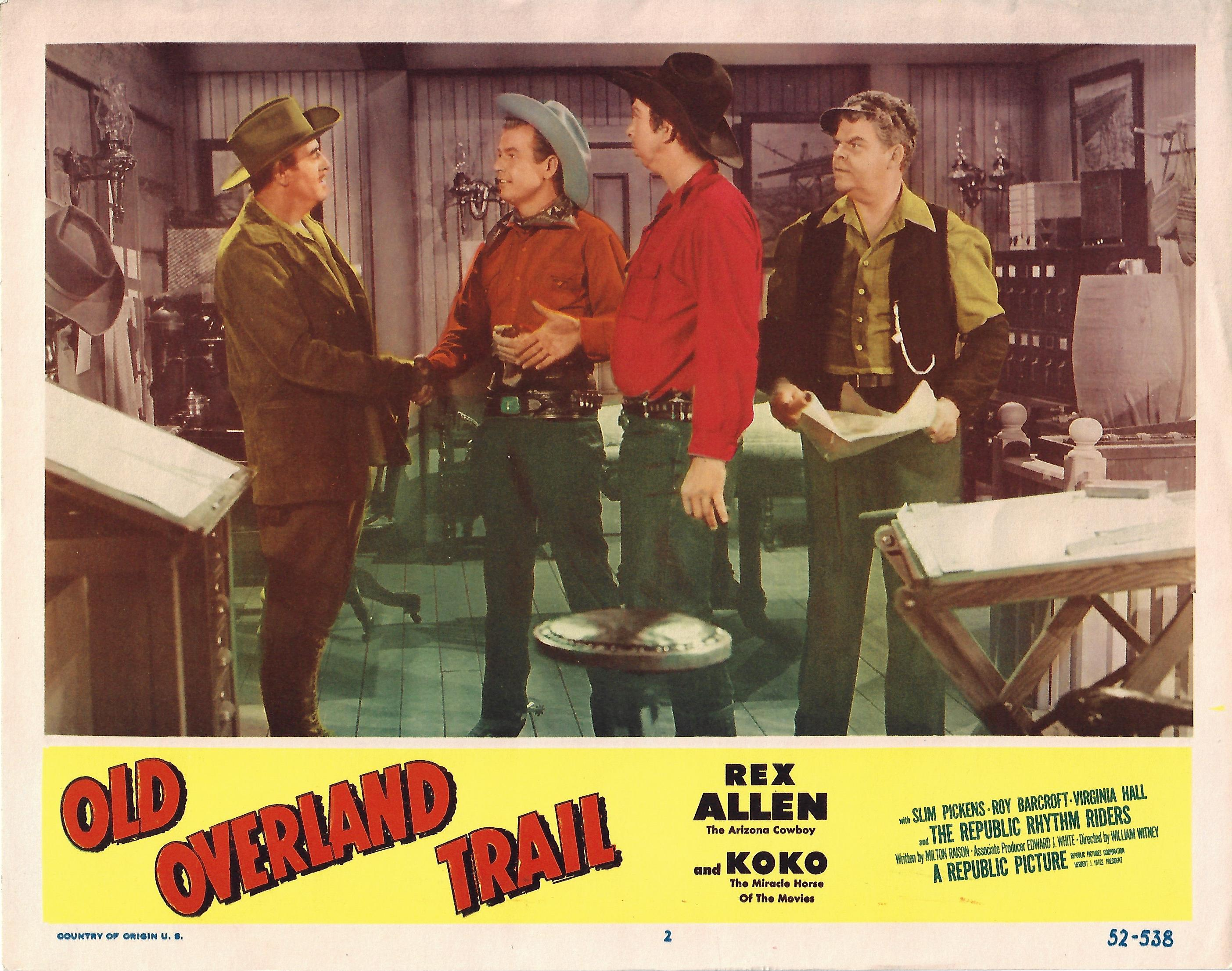Old Overland Trail, Original Lobby Card , 1952, 11x14