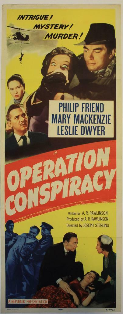 Operation Conspiracy (1957) Original Insert (14x36