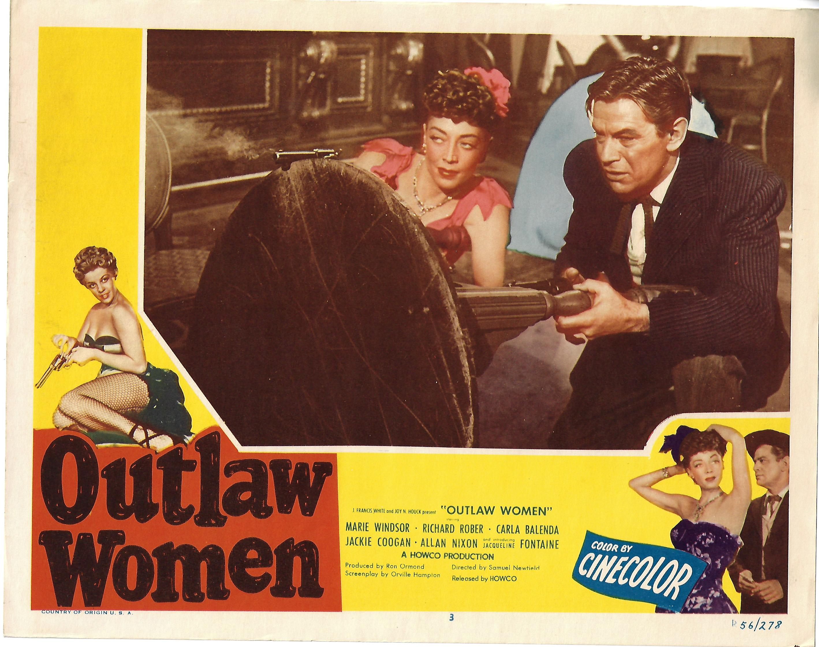 Outlaw Women, Lot of 5 Re-Release Lobby Cards , R56, 11x14
