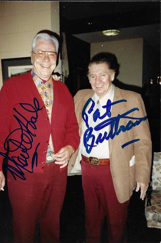 Pat Buttram 1915-1994, with Monte Hale,  4x6 Photo, Guaranteed Original!