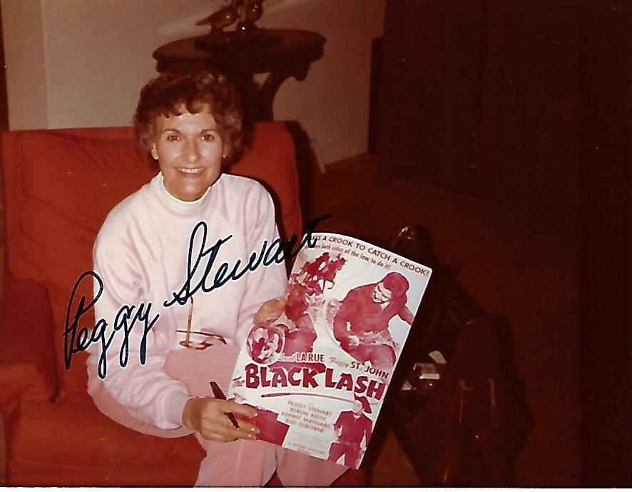 Peggy Stewart, 1923-2019, Actress, Candid Autographed Photo (3.5 x 4.5)