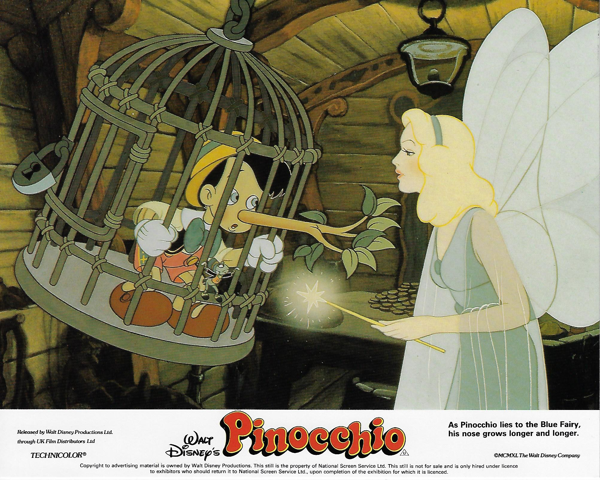 Pinocchio, Re-Release British Lobby Card Set, (8x10)
