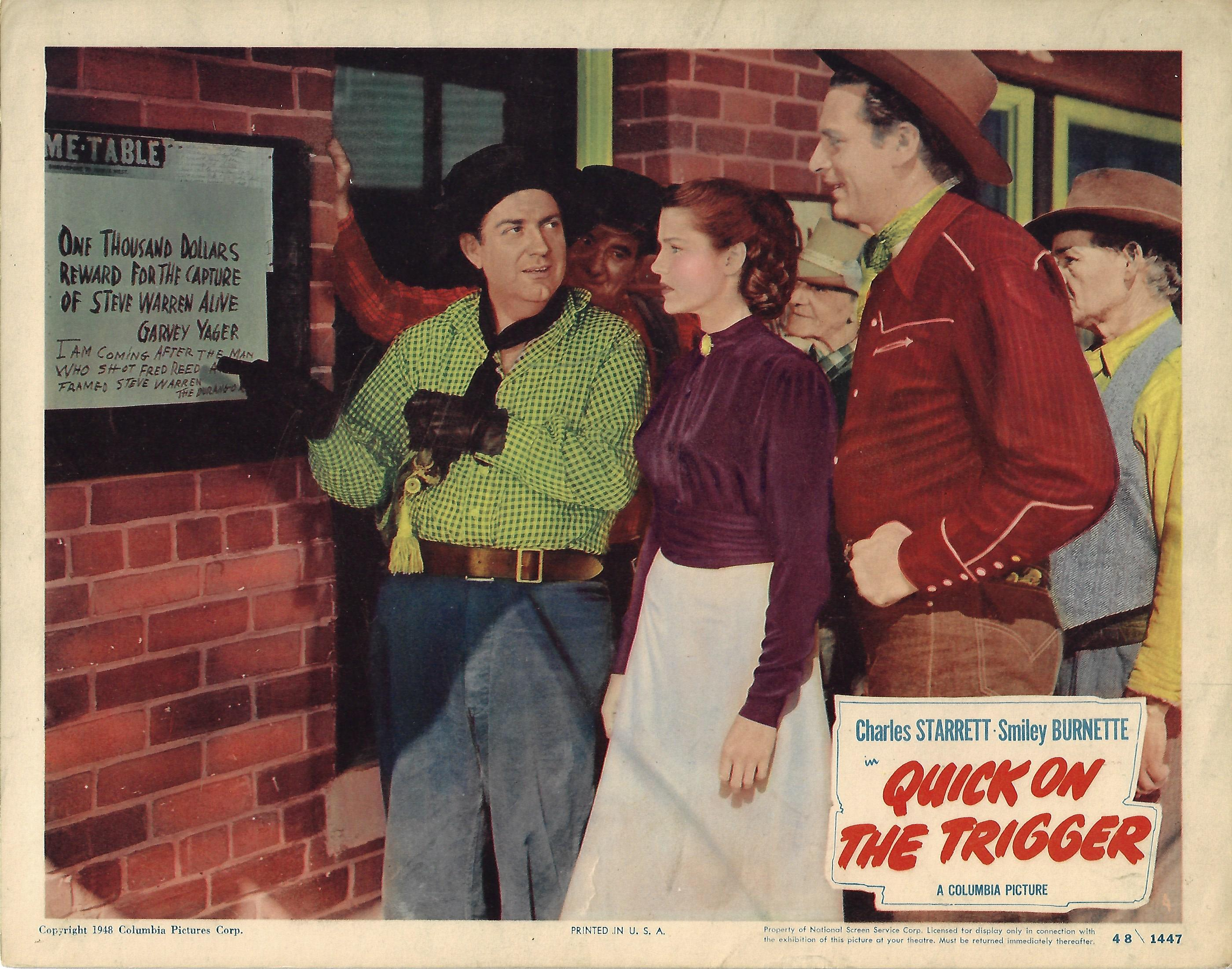Quick on the Trigger, Lobby Card, 1948,  11x14
