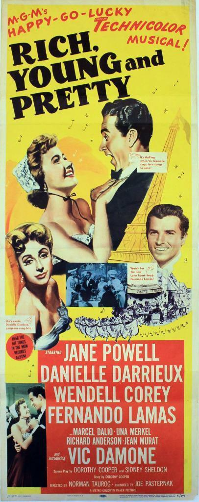 Rich, Young and Pretty, (1951), Original Insert (14x36
