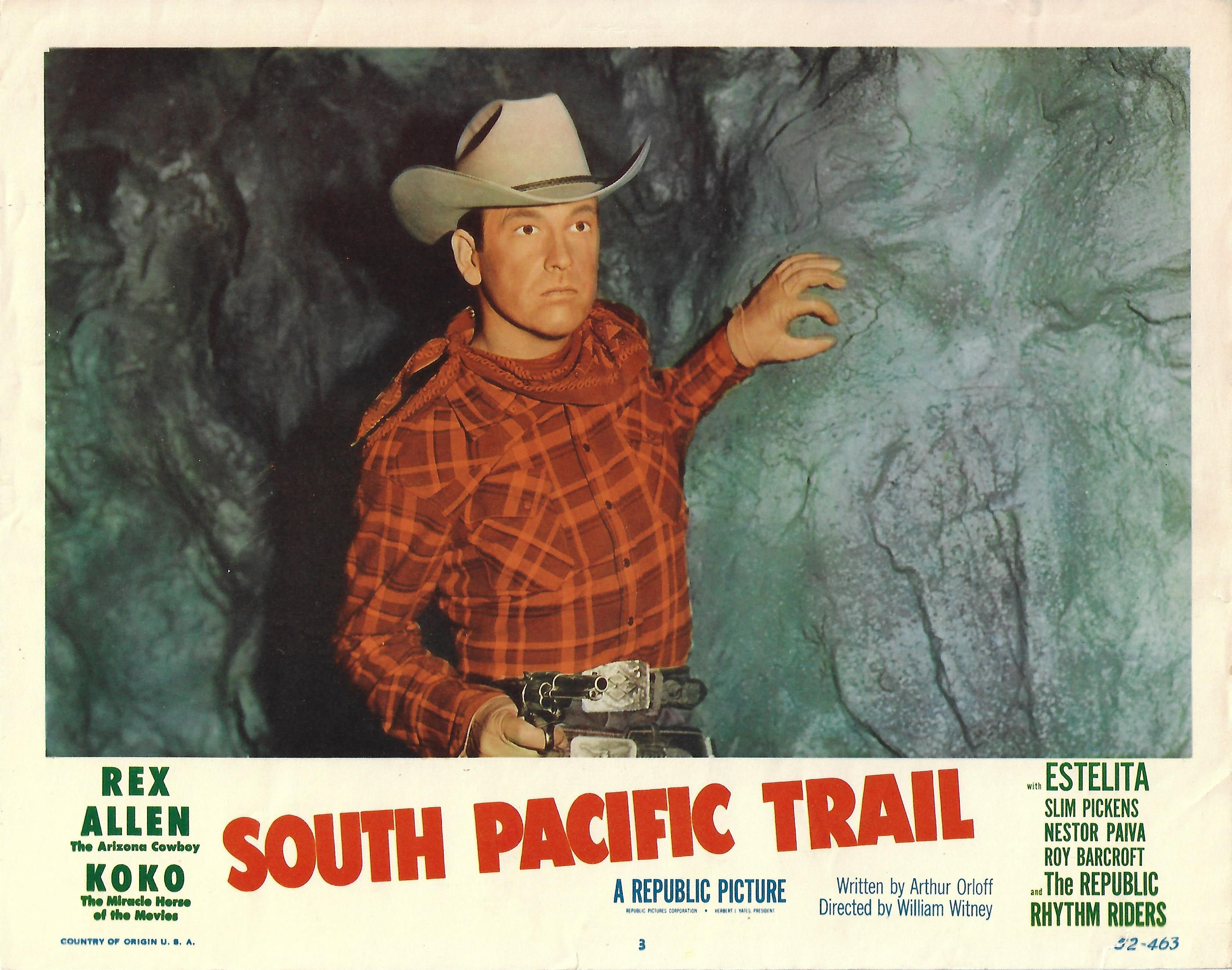 South Pacific Trail, Original Lobby Card , 1952, 11x14