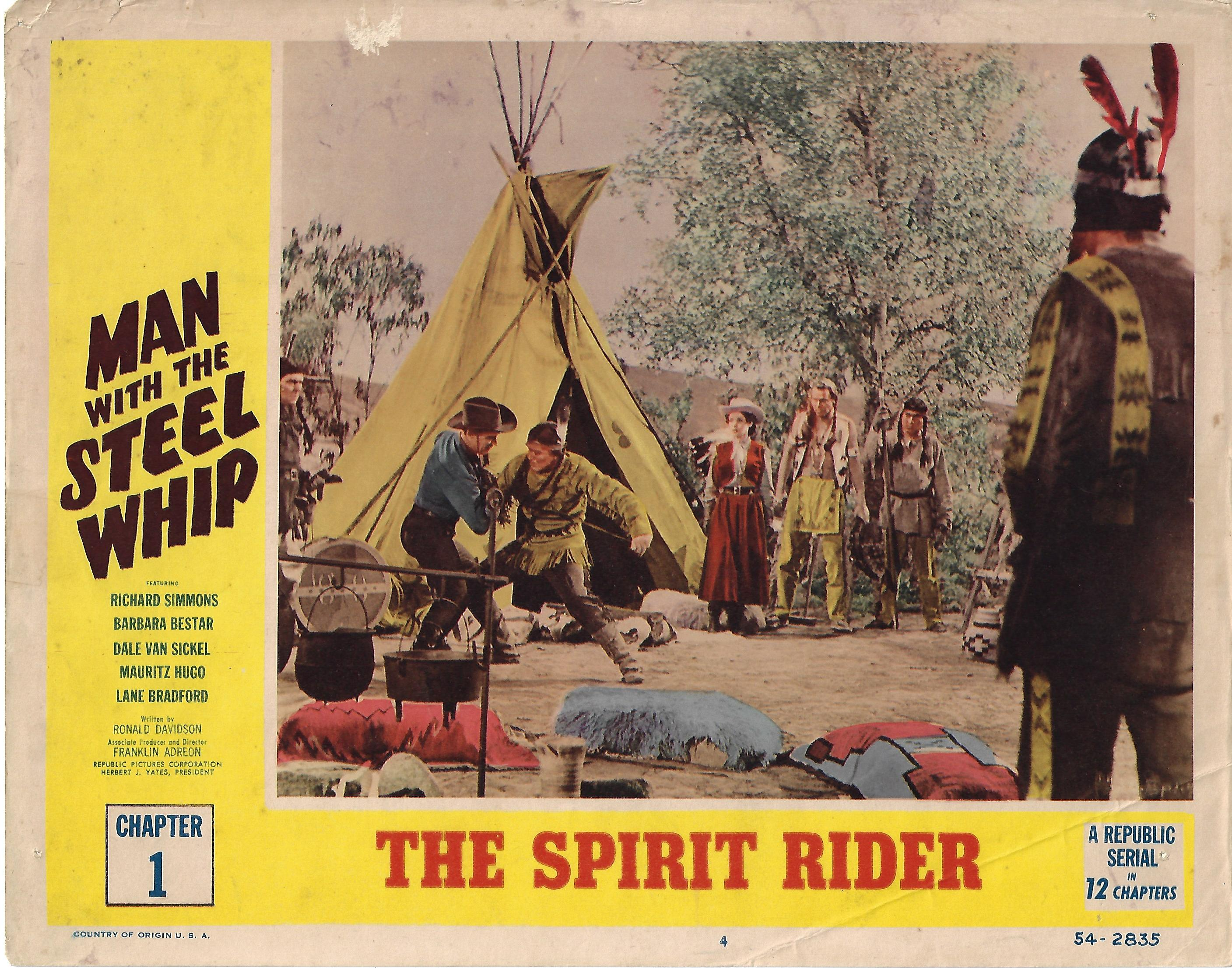 Man with the Steel Whip, Chapter 1 Lobby Card , 1954, 11x14