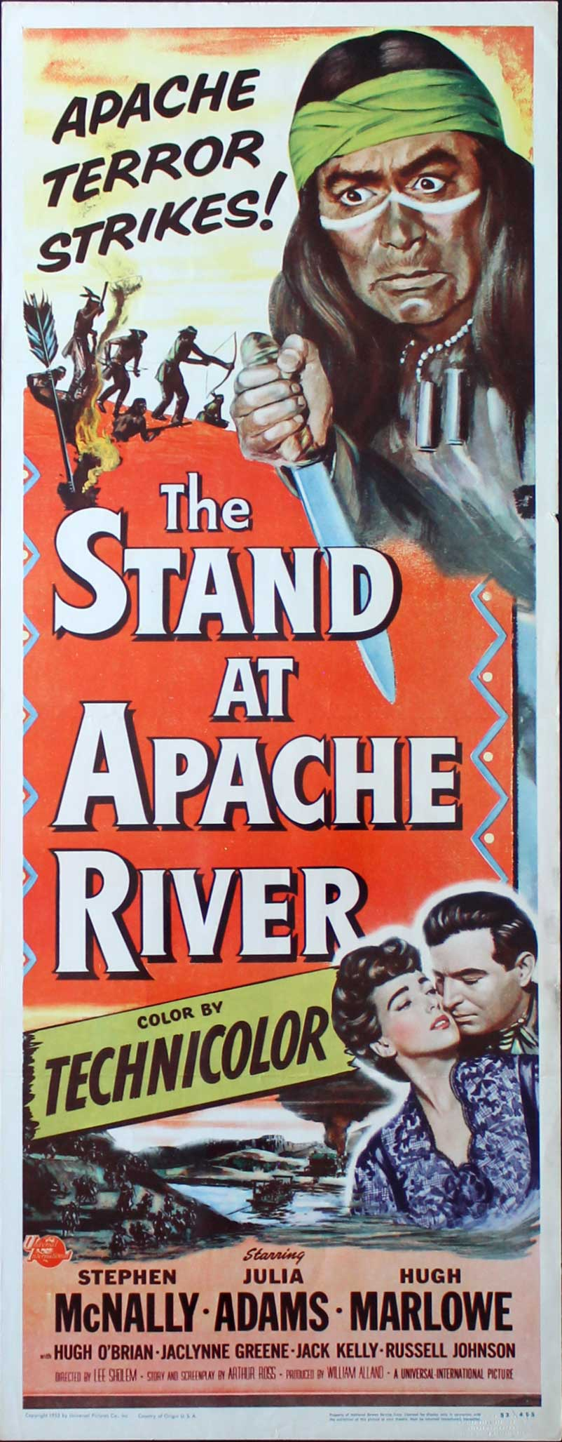 Stand at Apache River, 1953, Stephen McNally, Original Insert, (14x36)