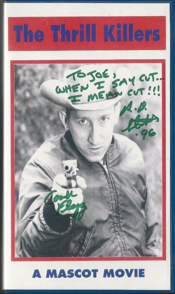 Ray Dennis Steckler (Cash Flagg),  Autographed VHS of Thrill Killers, Guaranteed Original!