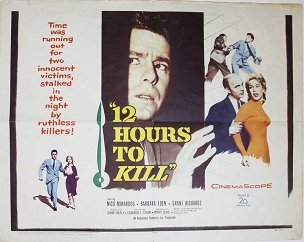 12 Hours to Kill, 1960, Half Sheet (22x28), Barbara Eden