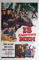 Thirteen Fighting Men, 1960, Grant Williams, Original 1 Sheet (27x41)