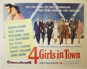 4 Girls in Town, 1956, , Ralph Nader, Style B Half Sheet (22x28)