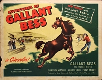 Adventures of Galiant Bess, 1948, , Original Half Sheet, (22x28)
