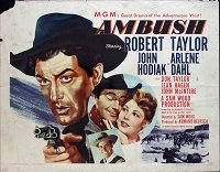Ambush, 1950, Robert Taylor, Original Half Sheet, (22x28)