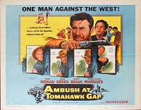 Ambush at Tomahawk Gap, 1953, John Hodiak, Original Half Sheet, Style B (22x28)