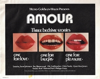 Amour , 1970, Original Lobby Card  Set , 11x14