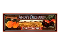 Andy's Orchard California Fruit Label