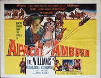 Apache Ambush, 1955, Bill Williams, Original Half Sheet,  (22x28)