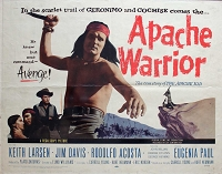 Apache Warrior, 1957, Keith Larsen, Original Half Sheet, (22x28)