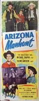 Arizona Manhunt, 1951, Michael Chapin, Original Insert, (14x36)
