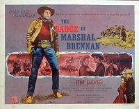 Badge of Marshall Brennen, 1957, Jim Davis, Original Half Sheet, Style B (22x28)