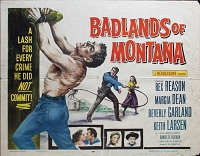 Badlands of Montana, 1957, Rex Reason, Original Half Sheet,  (22x28)