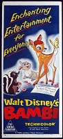Bambi, R57, Disney Animation, Re-Release Australian Daybill (13x30)