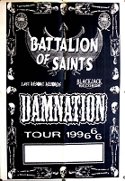 Battalion of Saints , Appearance Poster, Circa 1996, 43x30, Guaranteed Original!