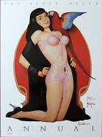 Betty Pages, 1991, Limited edition poster, Signed by artist, 18 x 24