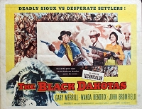 Black Dakotas, 1954, Gary Merrill, Original Half Sheet, (22x28)