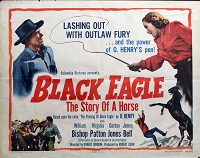Black Eagle, 1948, William Bishop, Original Half Sheet, (22x28)